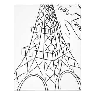 Eiffel Tower Custom Letterhead
