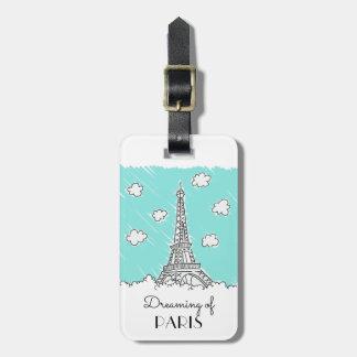 Eiffel Tower custom luggage tag