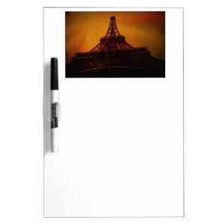 eiffel tower dry erase white board
