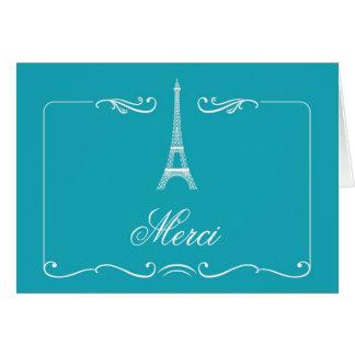 Eiffel Tower Elegant Wedding Thank You Card