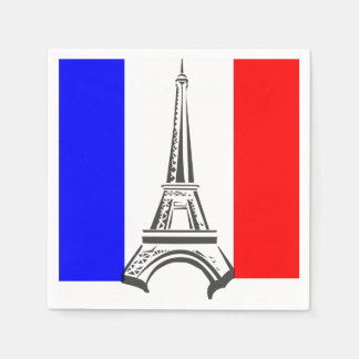 Eiffel Tower France Disposable Napkins
