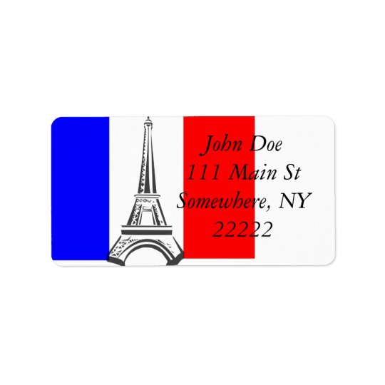Eiffel Tower France Label