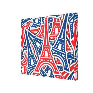 Eiffel Tower, France Pattern Canvas Print