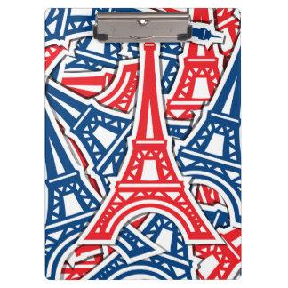 Eiffel Tower, France Pattern Clipboard