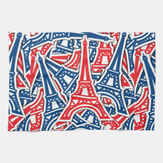 Eiffel Tower, France Pattern Hand Towels