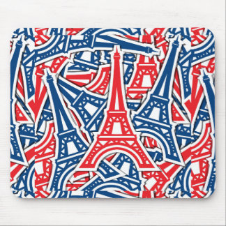 Eiffel Tower, France Pattern Mouse Pad