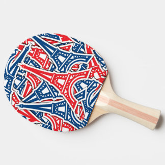 Eiffel Tower, France Pattern Ping-Pong Paddle
