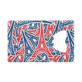 Eiffel Tower, France Pattern Wallet Bottle Opener