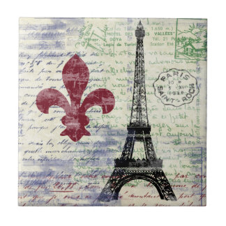 Eiffel Tower France Tile