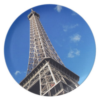 Eiffel Tower France Travel Photography Plate