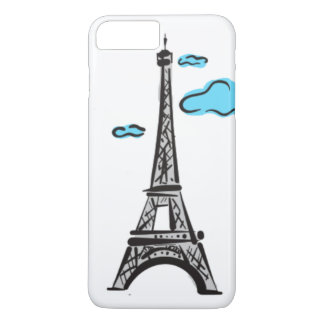 EIFFEL TOWER FREE HAND iPhone 7 PLUS CASE