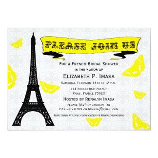 Eiffel Tower French Bridal Shower Invitations
