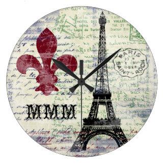 Eiffel Tower French Clock