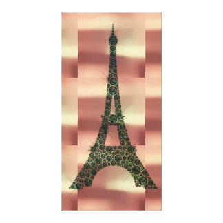 Eiffel Tower French Paris Geometry Tropical Luxury Canvas Print