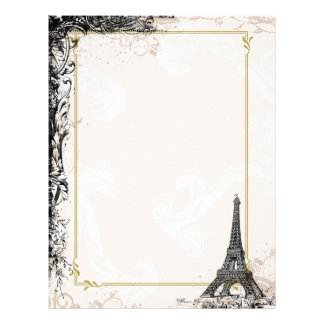Eiffel Tower French Style Letterhead
