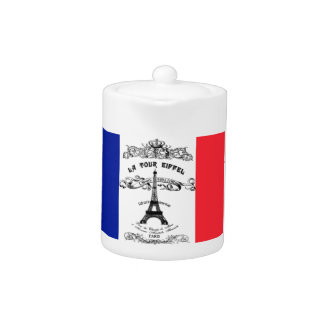 Eiffel Tower French teapot