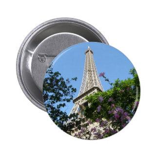 Eiffel Tower Garden 2 Inch Round Button