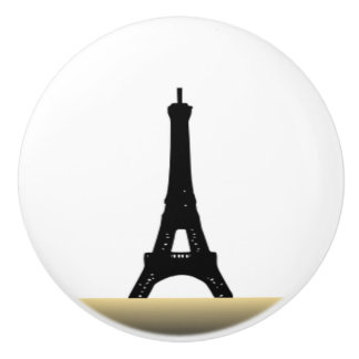 Eiffel Tower Gold Accent Knob Ceramic Knob