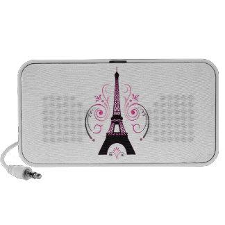 Eiffel Tower Gradient Swirl Design iPhone Speaker