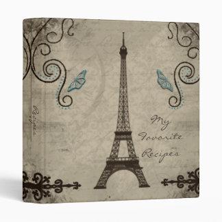 Eiffel Tower Grunge Recipe Binder