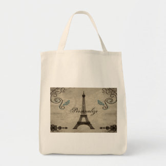 Eiffel Tower Grunge Totebag Tote Bag