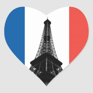 Eiffel Tower Heart Sticker