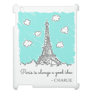 Eiffel Tower Illustration custom device cases iPad Cover