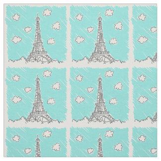 Eiffel Tower Illustration custom fabric