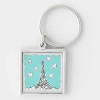 Eiffel Tower Illustration key chain
