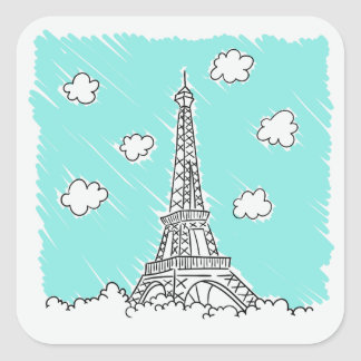 Eiffel Tower Illustration stickers