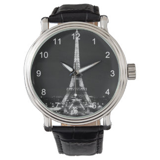 Eiffel Tower in Black and White Wristwatches