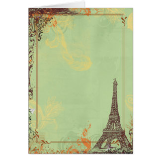 Eiffel Tower in Green Cards