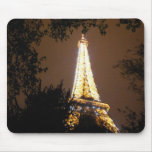 Eiffel Tower in Paris, France at Night Mouse Pad
