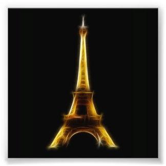 Eiffel Tower in Paris France Photo Art