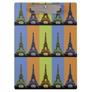 Eiffel Tower in Paris Triptych Clipboard