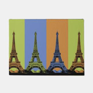 Eiffel Tower in Paris Triptych Doormat