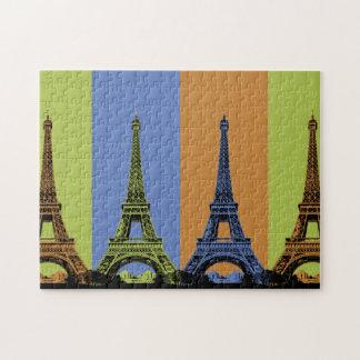 Eiffel Tower in Paris Triptych Jigsaw Puzzle