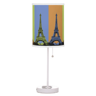Eiffel Tower in Paris Triptych Table Lamp