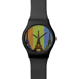 Eiffel Tower in Paris Triptych Watch