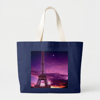 Eiffel Tower In Sunshine Sky Large Tote Bag