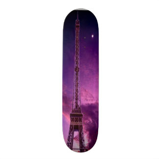 Eiffel Tower in sunshine sky Skateboard