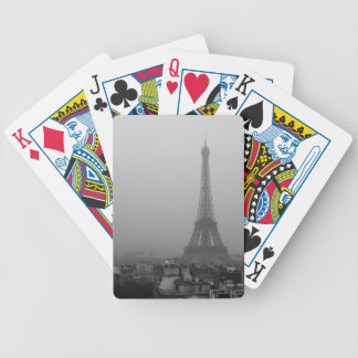 Eiffel Tower in the mist Bicycle Playing Cards