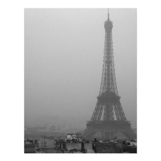 Eiffel Tower in the mist Letterhead