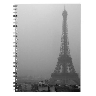 Eiffel Tower in the mist Notebooks