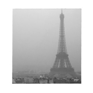 Eiffel Tower in the mist Notepad