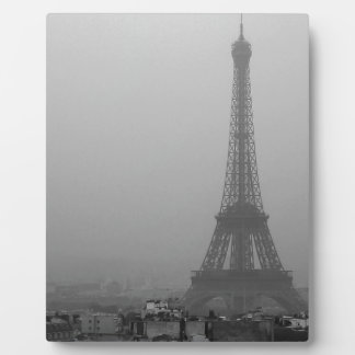 Eiffel Tower in the mist Plaque