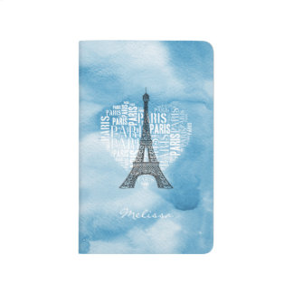 Eiffel Tower & Inscriptions Paris in Heart Journal