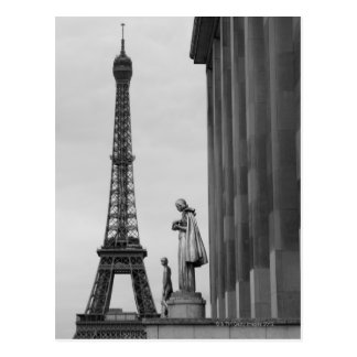 Eiffel Tower is a 19th century iron lattice Postcard