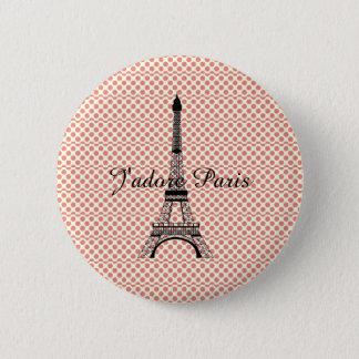 Eiffel tower J'adore Paris 2 Inch Round Button