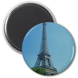 Eiffel Tower Longshot 2 Inch Round Magnet